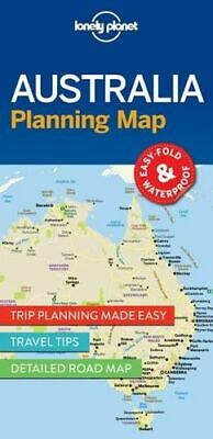 NEW Australia Planning Map By Lonely Planet Folded Sheet Map Free Shipping