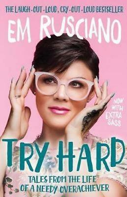 NEW Try Hard By Em Rusciano Paperback Free Shipping