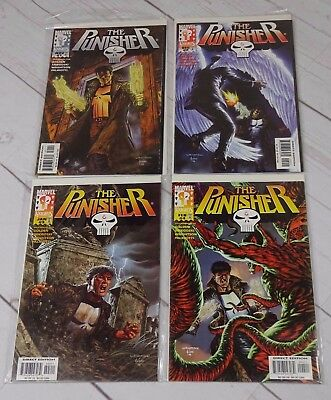 The Punisher  1-4 Purgatory Complete Set 1998 Bagged and Boarded - C2147