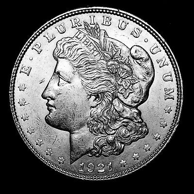 1921 D ~**ABOUT UNCIRCULATED AU**~ Silver Morgan Dollar Rare US Old Coin! #B46