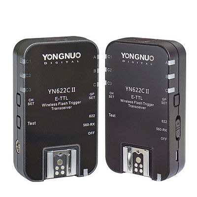 Yongnuo New Updated YN-622C II HSS + TTL Wireless Flash Trigger 1/8000 for Canon