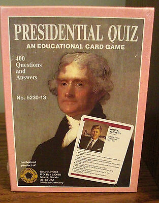 Vintage Presidential Quiz Card Game Smithsonian Sealed Collector Safari Ltd.