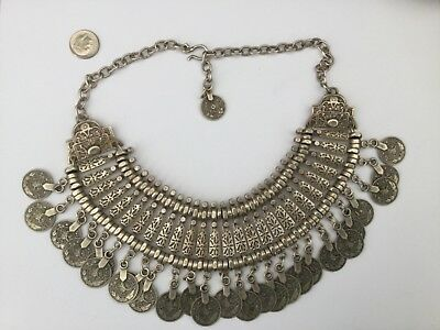 Ornate Middle Eastern Tribal/arabic Coins Large Chunky Necklace, Gorgeous