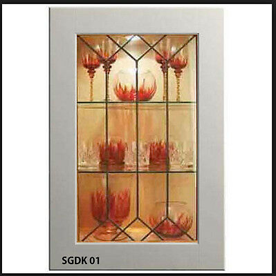 New Replacement Kitchen Doors with Genuine Leaded glass insert ( sgdk01 )