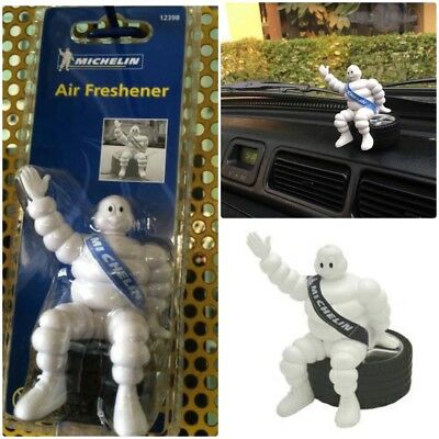 "Michelin Man Doll Collectible Bibendum Figure Sit on Tyre 4"" Car Air Freshener"