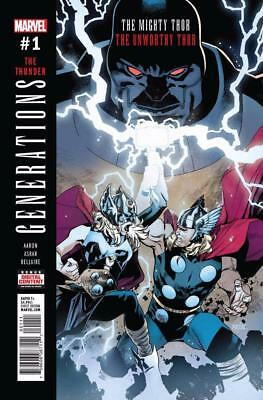 Generations - Unworthy Thor & Mighty Thor (Marvel Comics, 2017) NM 1A 1st Print