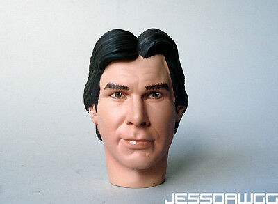 """1/6 Bespin Han Solo head sculpt by Sideshow for 12"""" figure Star Wars"""