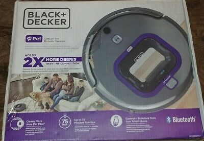 Black+Decker HRV420BP07 Smartech Pet Robotic Vacuum
