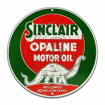 Vintage Garage Sign Metal Decor Gas and Oil Sign - Sinclair Opaline Motor Oil