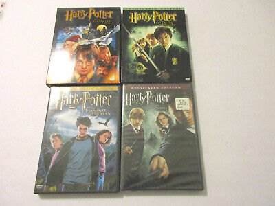 HARRY POTTER DVD LOT Years 1 2 3 & 5 (3 Used, 1 New) BOTH FULL & WIDE SCREEN