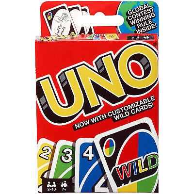 Classic UNO Playing Card Game Family Kids Fun Party Match Play Cards Gift Mattel