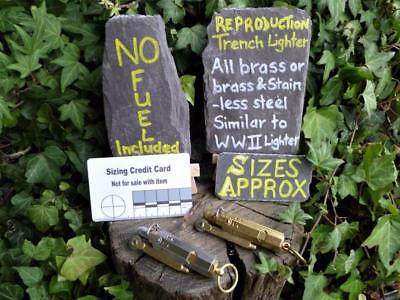 Repro Vintage Trench Lighter choice of 2 finishes Bushcraft Survival Camping EDC
