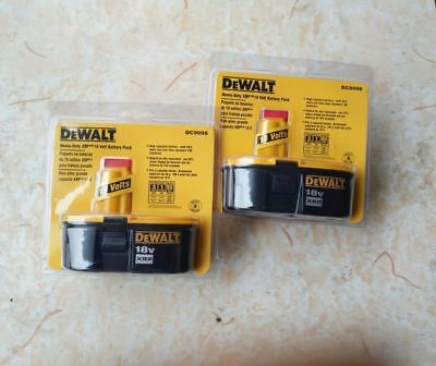 2-Pack New DeWalt XRP 18V DC9096 Heavy-Duty 2.4A Ni-CD Battery