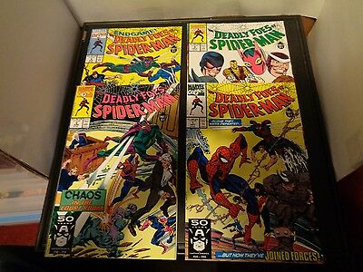 The Deadly Foes Of Spider-Man 1991 COMPLETE SET #1-4 VF Condition Marvel Comics