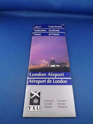 London Airport Advertise Brochure Transport Canada Airports Travel Flying Planes