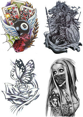 High Quality Temporary Fake Tattoo Designs Cool Waterproof Body Party Sticker