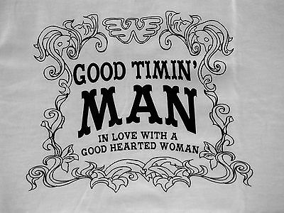 "Vintage Waylon ""Good Timin' Man"" T-shirt size Large"