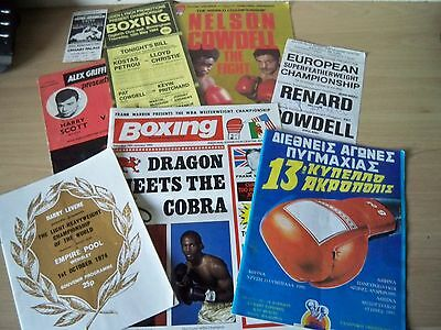Clearance Boxing programmes & ticket 60's-modern including autographed prog LOOK