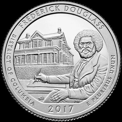 "2017 P Frederick Douglass National Park Quarter District of Columbia ""BU"" ATB"