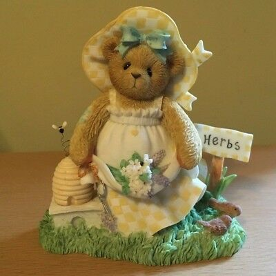 """Cherished Teddies #107063 Flo """"Gather Friendships like Blossoms"""" New in Box 2002"""