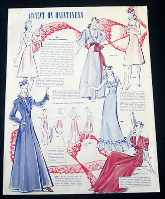 1939 Hollywood Patterns print ad lingerie & loungewear