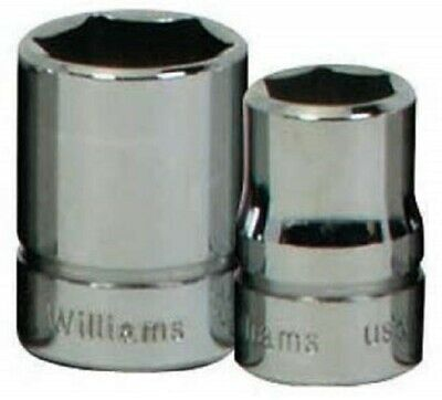 Williams B-628 3/8 Drive Shallow Socket, 6 Point, 7/8-Inch