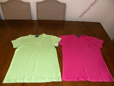 Polo Ralph Lauren Womens V Neck Shirts Sz Xs For Work Or Casual Wear Set