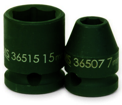 Williams 36518 18mm Shallow 6-Point Impact Socket 3/8 DRIVE METRIC
