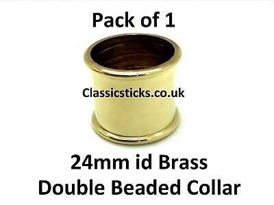 Brass Double Beaded Collar 24mm id Pack 1, walking stick making