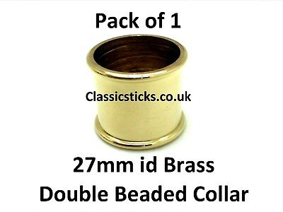 Brass Double Beaded Collar 27mm id Pack 1, walking stick making