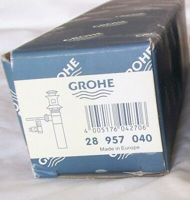 Vintage Grohe Chrome Pop Up Assembly Bathroom Sink Solid Brass 28 957 040  - Nos