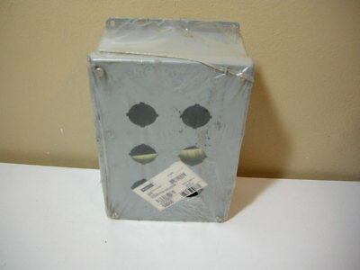 """HOFFMAN E-6PB Pushbutton Enclosure 10"""" x 6.5"""" x 3""""~NOS *NEW NEVER USED"""