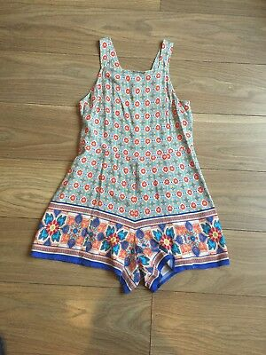 Girls Multi-Coloured Age 12 Years New Look Dungaree Playsuit