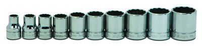 Williams WSB-10RC 10-Piece 3/8-Inch Drive Shallow 12 Point Socket Set