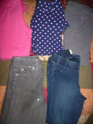 Girl's Jeggings Mixed Lot of 4 Prs Sz 5 Circo, Old Navy Excellent Preowned
