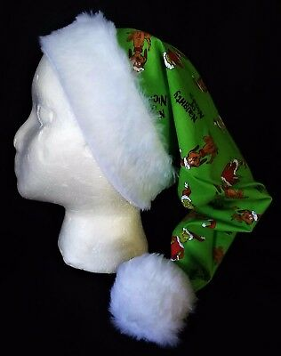 Green Grinch Who Stole Christmas Cotton Santa Hat