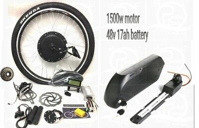 "Pedalease 48v 1500W complete electric bike conversion Kit 26"" wheel battery 🔋"
