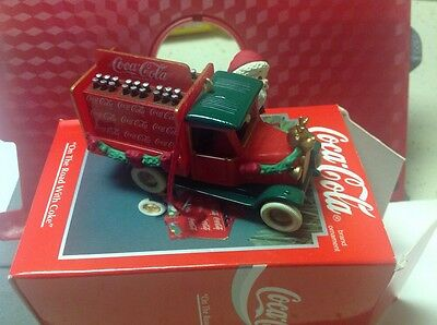 Coca Cola On The Road With Coke Santa Truck Ornament 1994 In Box Enesco