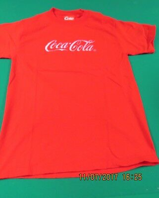 Coca Cola Medium M Red T Shirt COKE USA Womens Mens Adult Embroidered