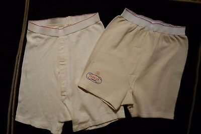 LOT of 2 VINTAGE MENS BOYS FRENCH BOXER BRIEF UNDERWEAR, Size S