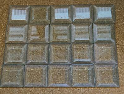 Antique Lot of 20 Square Beveled Glass Prisms Salvage Window Vtg 19th Century