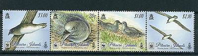 Pitcairn Islands 2016 MNH Phoenix Petrel WWF 4v Strip Birds Stamps