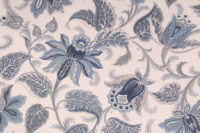 Briswell Chambray Richloom Floral Print Upholstery Fabric Bty Cream