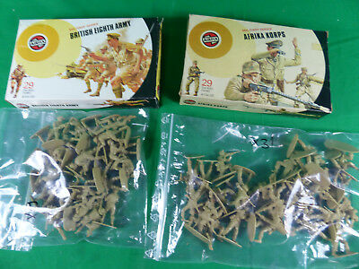 vintage Airfix Soldiers 1:32 Soldaten Afrika Korps / British Eight Army - boxed