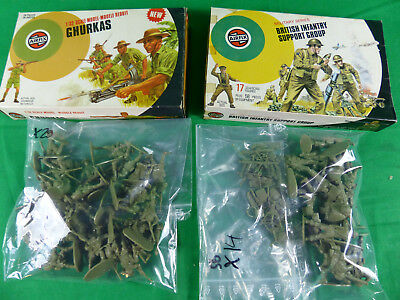 vintage Airfix Soldiers 1:32 Soldaten Ghurkas / British Support Group - boxed