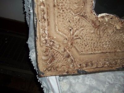 """Mirror Made of Antique Tin Ceiling Tile  24"""" X 24"""" Great Shabby Rustic Chic"""