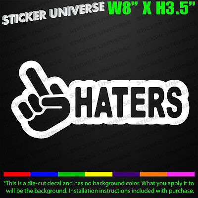 F*ck Haters Middle Finger Funny Car Window Decal Bumper Sticker JDM Tailgater658