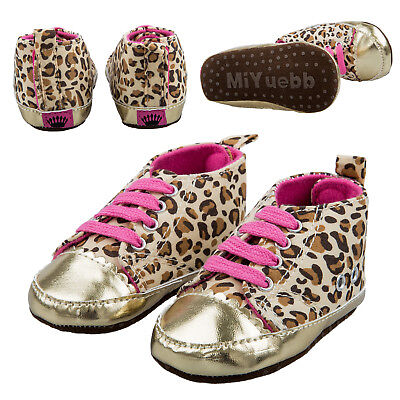 FP Warm Soft Baby Infant Toddler Boy Girl Leopard Shoes 12-18 Month