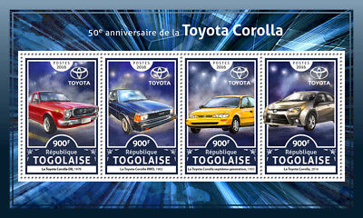 Togo 2016 MNH Toyoto Corolla DX RWD 4v M/S Cars Motoring Stamps