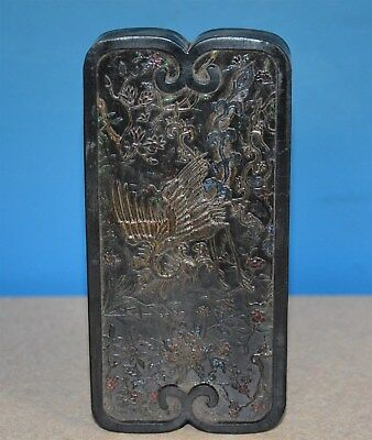 Fine Large Antique Chinese Well Carved Ink Stick Marked Rare No Reserve S3951